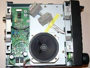 Радиоприемник Yaesu VR-5000 без нижней крышки и модуля DSP-1