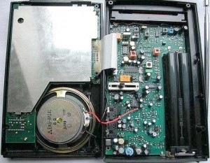 Радиоприемник Grundig YB-500 в раскрытом виде