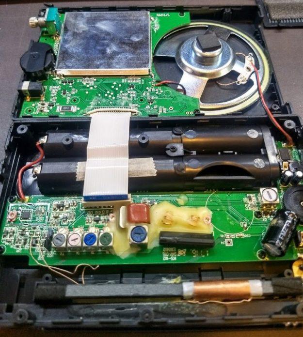 Радиоприемник Digitech AR-1780 внутри